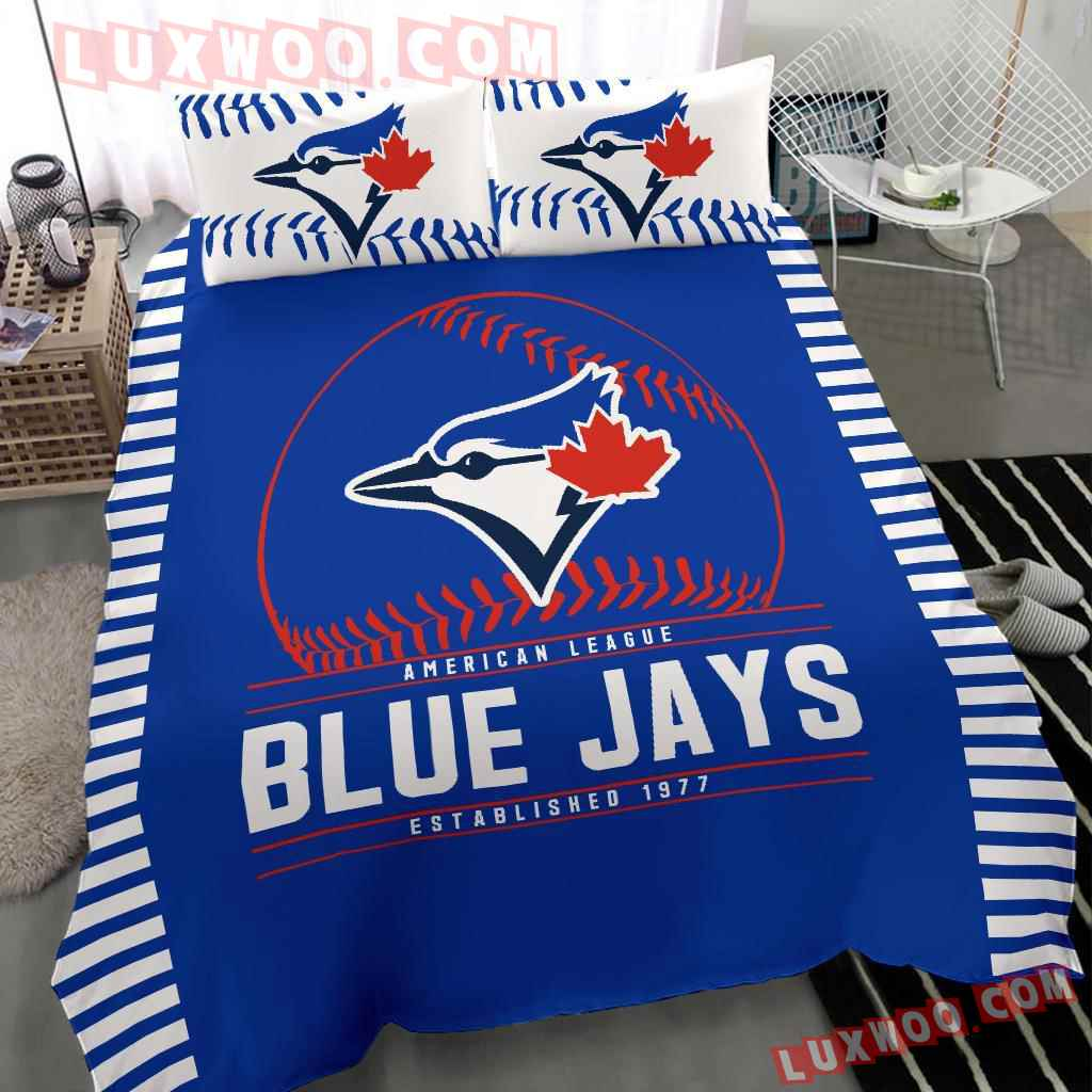 Mlb Toronto Blue Jays 3d Quilt Bedding Set V1