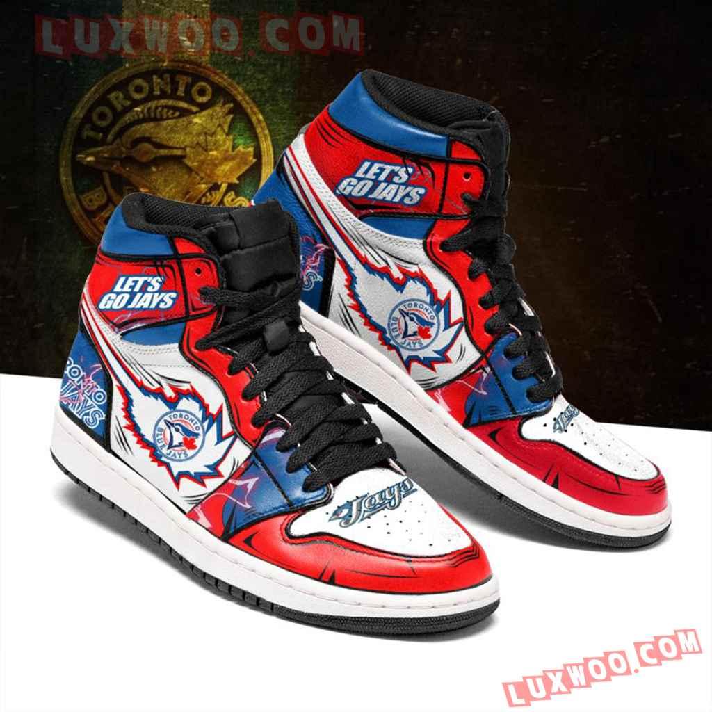 Mlb Toronto Blue Jays Air Jordan 1 Custom Shoes Sneaker V1