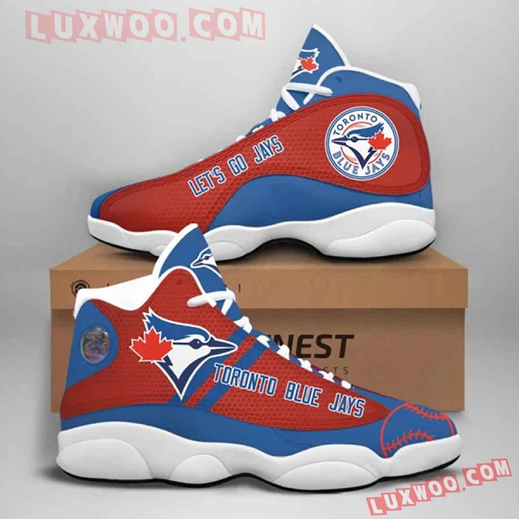 Mlb Toronto Blue Jays Air Jordan 13 Custom Shoes Sneaker V1