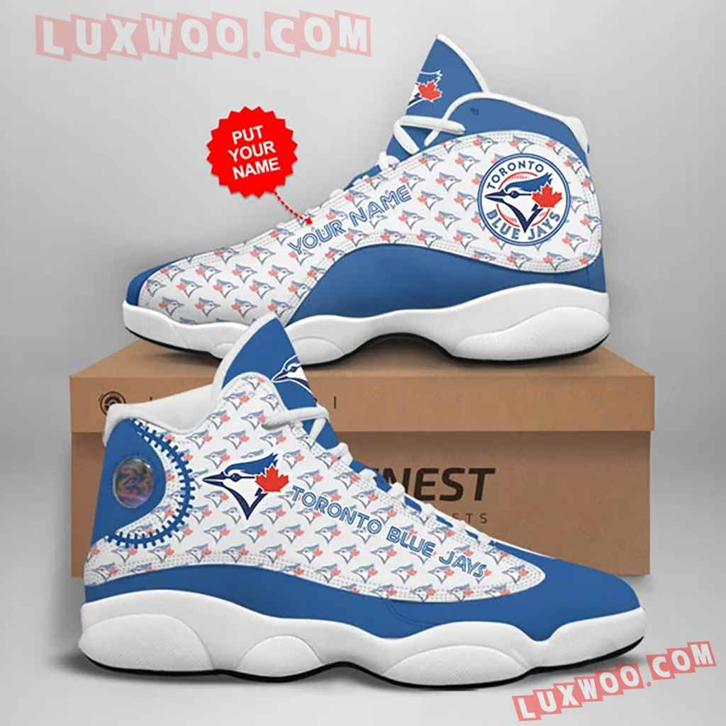 Mlb Toronto Blue Jays Air Jordan 13 Custom Shoes Sneaker V2 Personalized