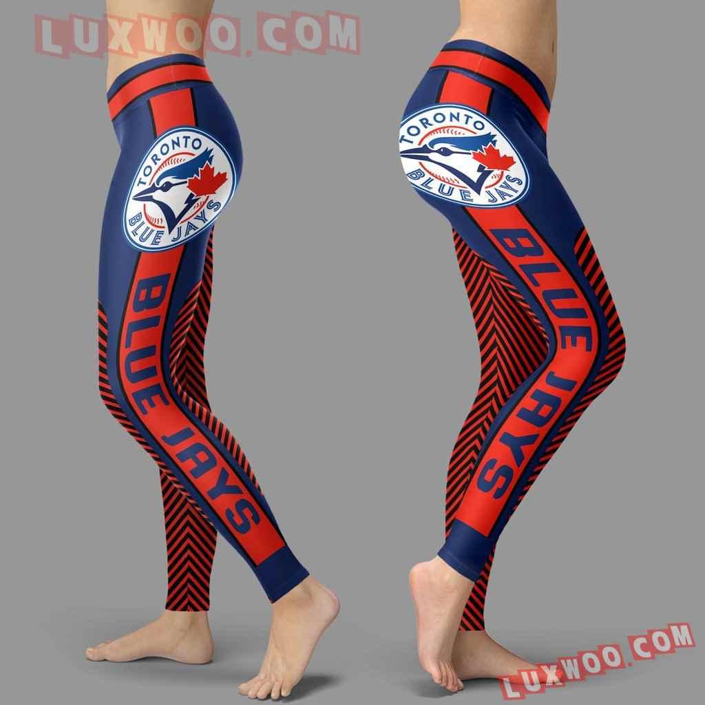 Mlb Toronto Blue Jays Leggings 3d Custom Print Leggings Sport V1