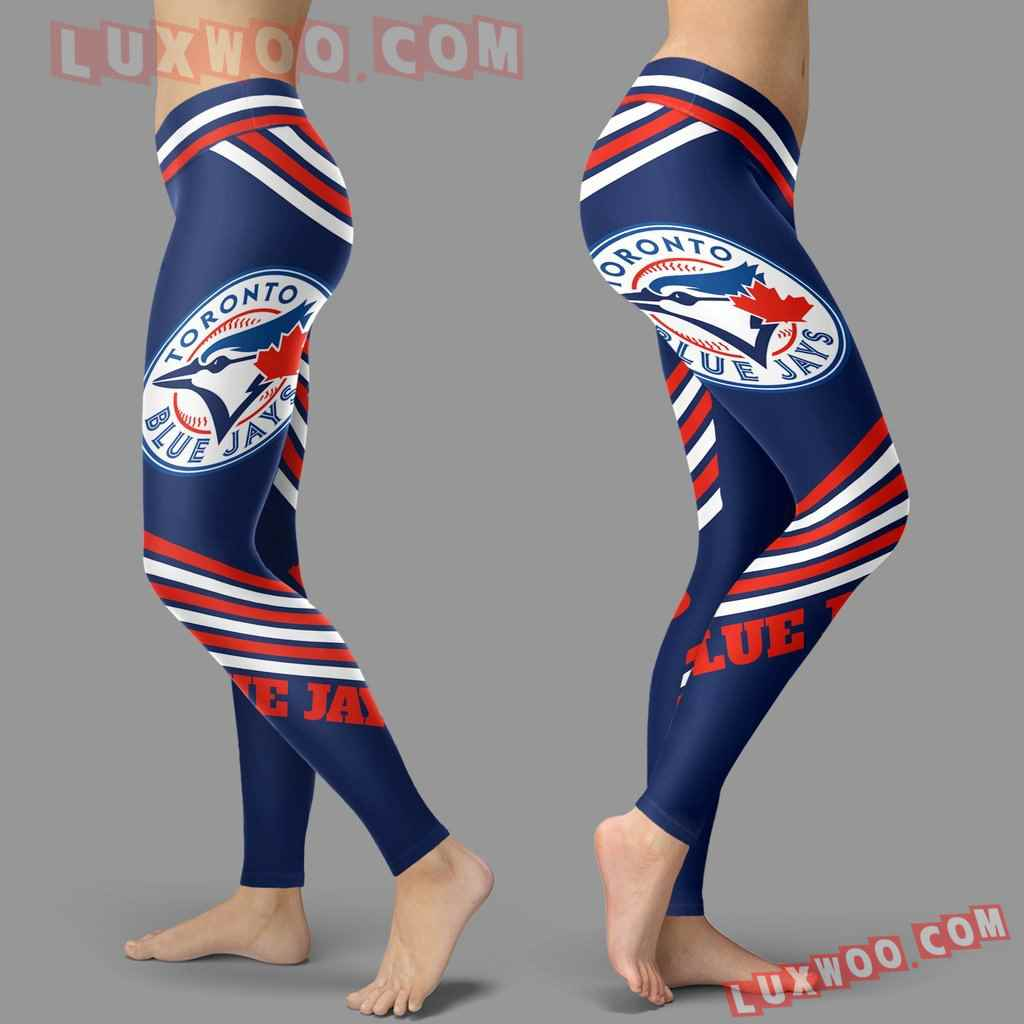 Mlb Toronto Blue Jays Leggings 3d Custom Print Leggings Sport V2