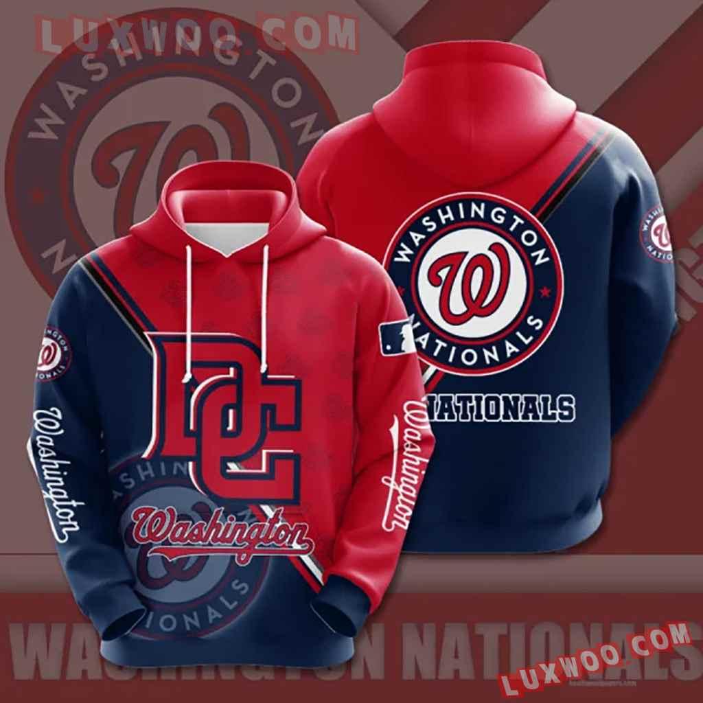 Mlb Washington Nationals 3d Hoodies Printed Zip Hoodies Sweatshirt Jacket V1