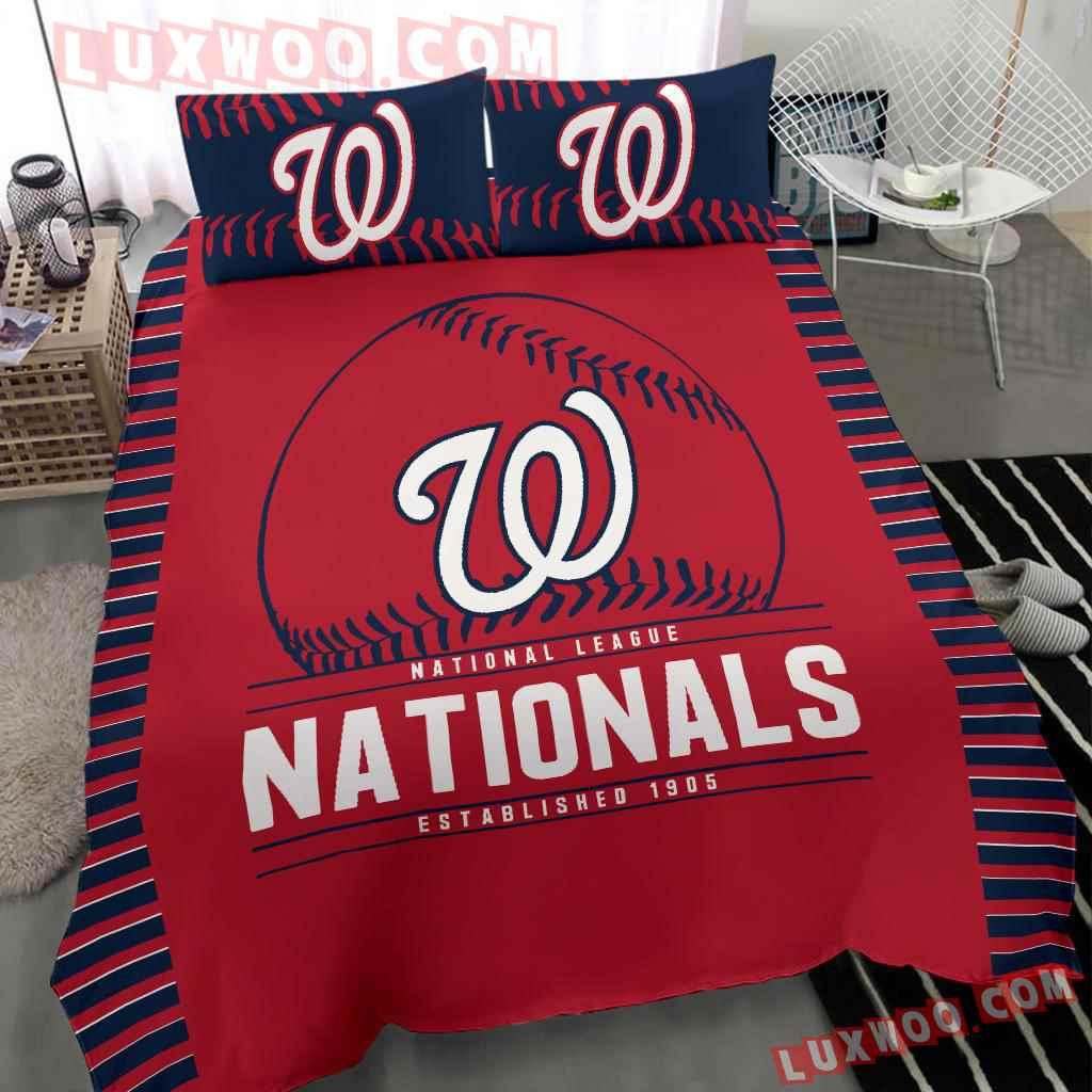 Mlb Washington Nationals 3d Quilt Bedding Set V1