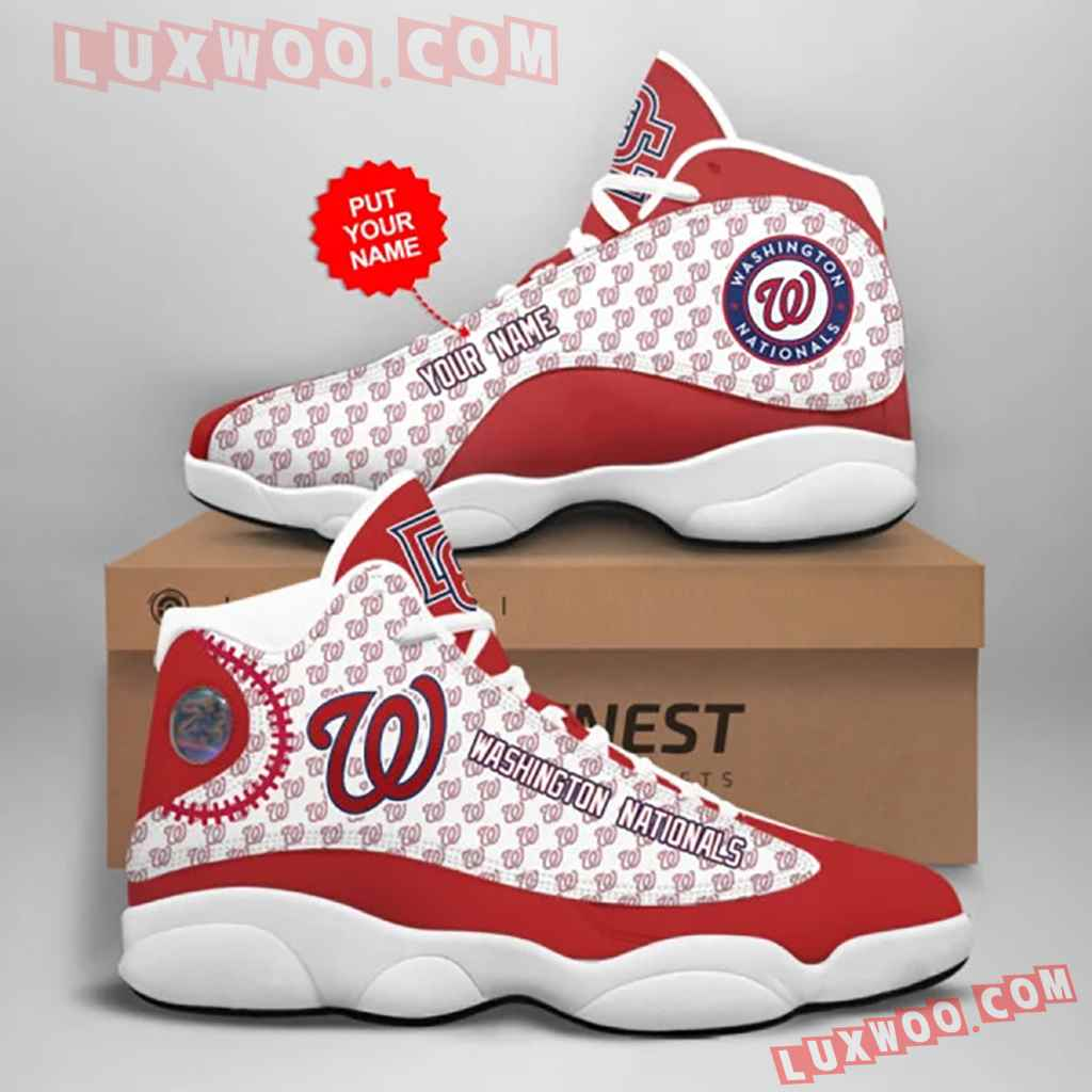 Mlb Washington Nationals Air Jordan 13 Custom Shoes Sneaker V1 Personalized