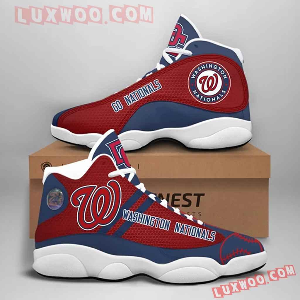 Mlb Washington Nationals Air Jordan 13 Custom Shoes Sneaker V1