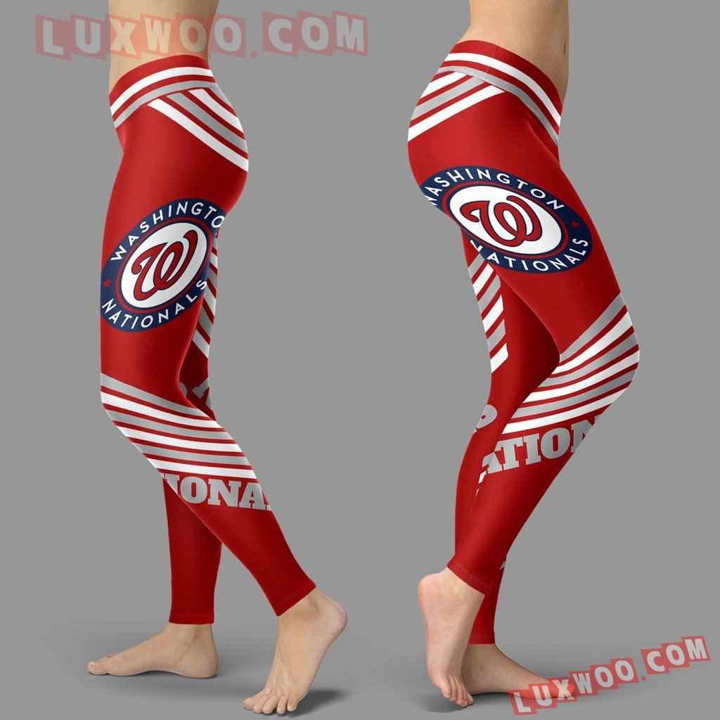 Mlb Washington Nationals Leggings 3d Custom Print Leggings Sport V2