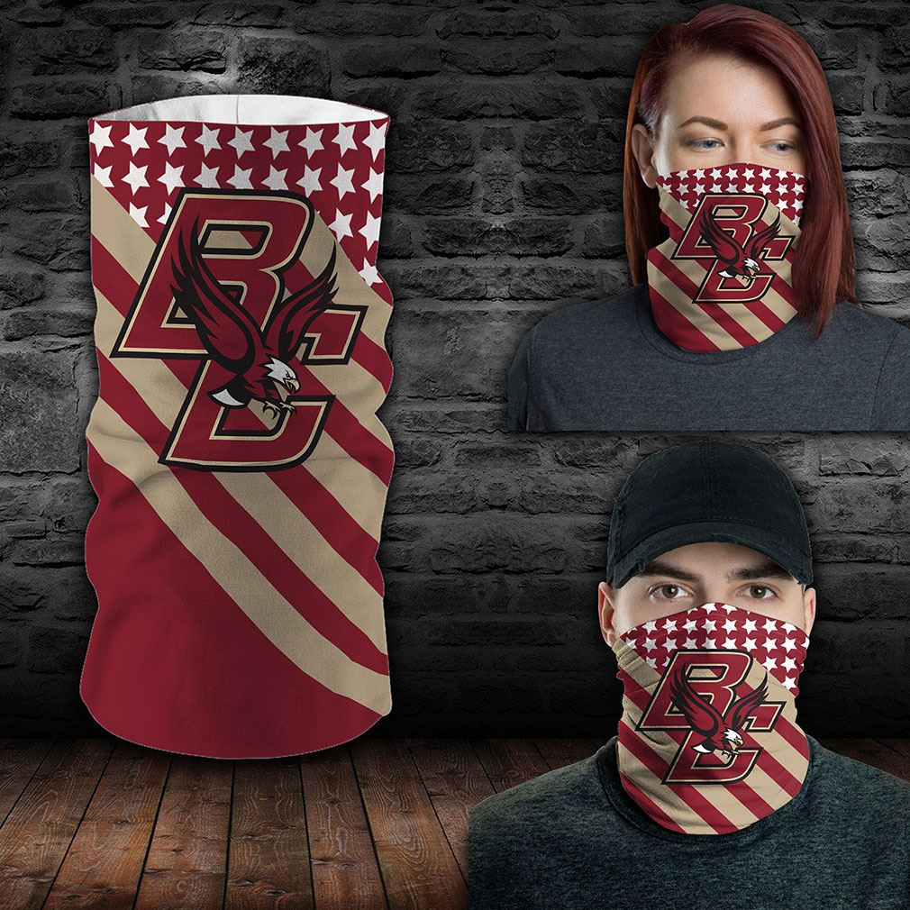 Boston College Eagles Ncaa Sport Neck Gaiter Flag America Bandana
