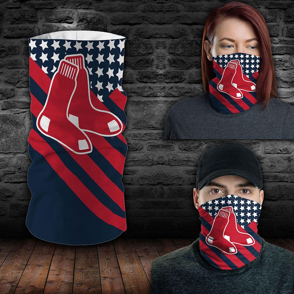 Boston Red Sox Mlb Sport Neck Gaiter Flag America Bandana