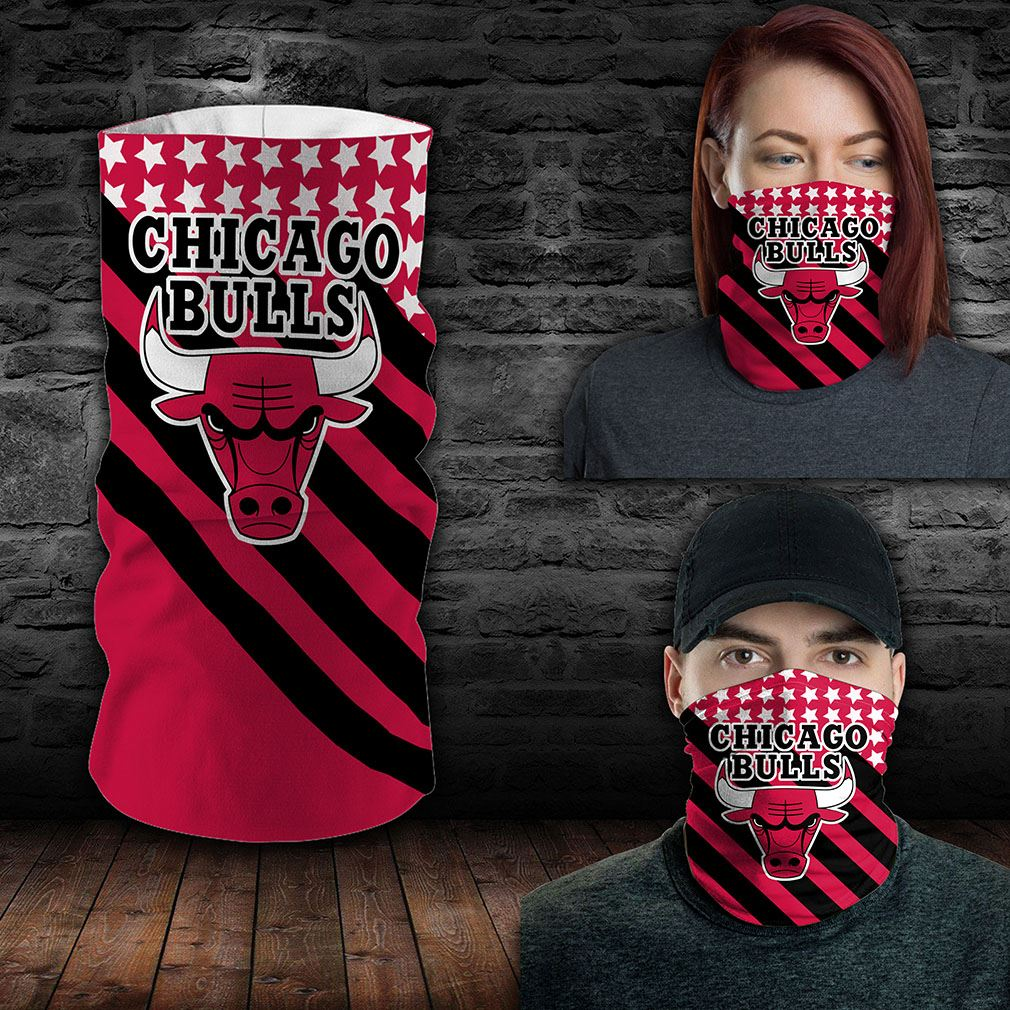 Chicago Bulls Nba Sport Neck Gaiter Flag America Bandana