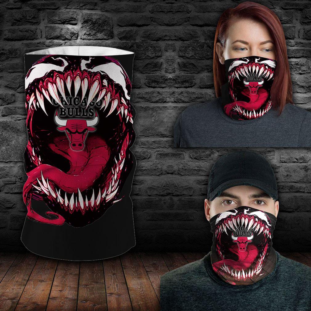 Chicago Bulls Nba Sport Neck Gaiter Venom Movie Bandana