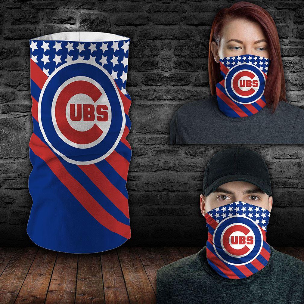 Chicago Cubs Mlb Sport Neck Gaiter Flag America Bandana