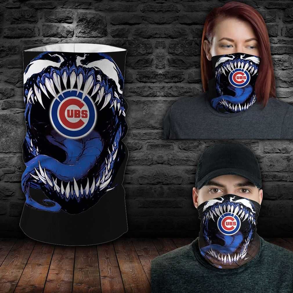 Chicago Cubs Mlb Sport Neck Gaiter Venom Movie Bandana