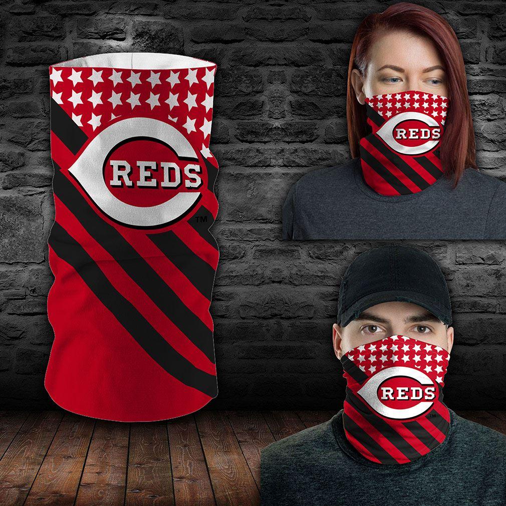 Cincinnati Reds Mlb Sport Neck Gaiter Flag America Bandana