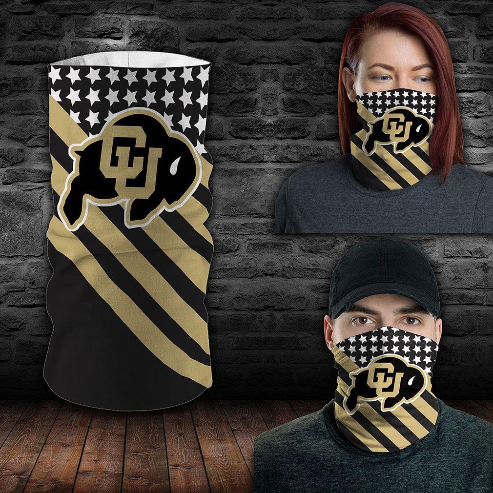 Colorado Buffaloes Ncaa Sport Neck Gaiter Flag America Bandana
