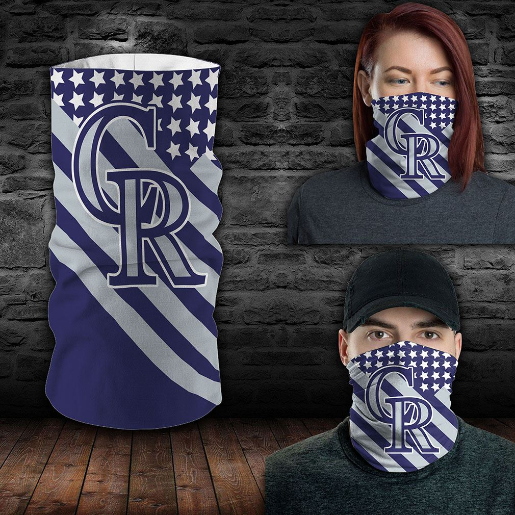 Colorado Rockies Mlb Sport Neck Gaiter Flag America Bandana