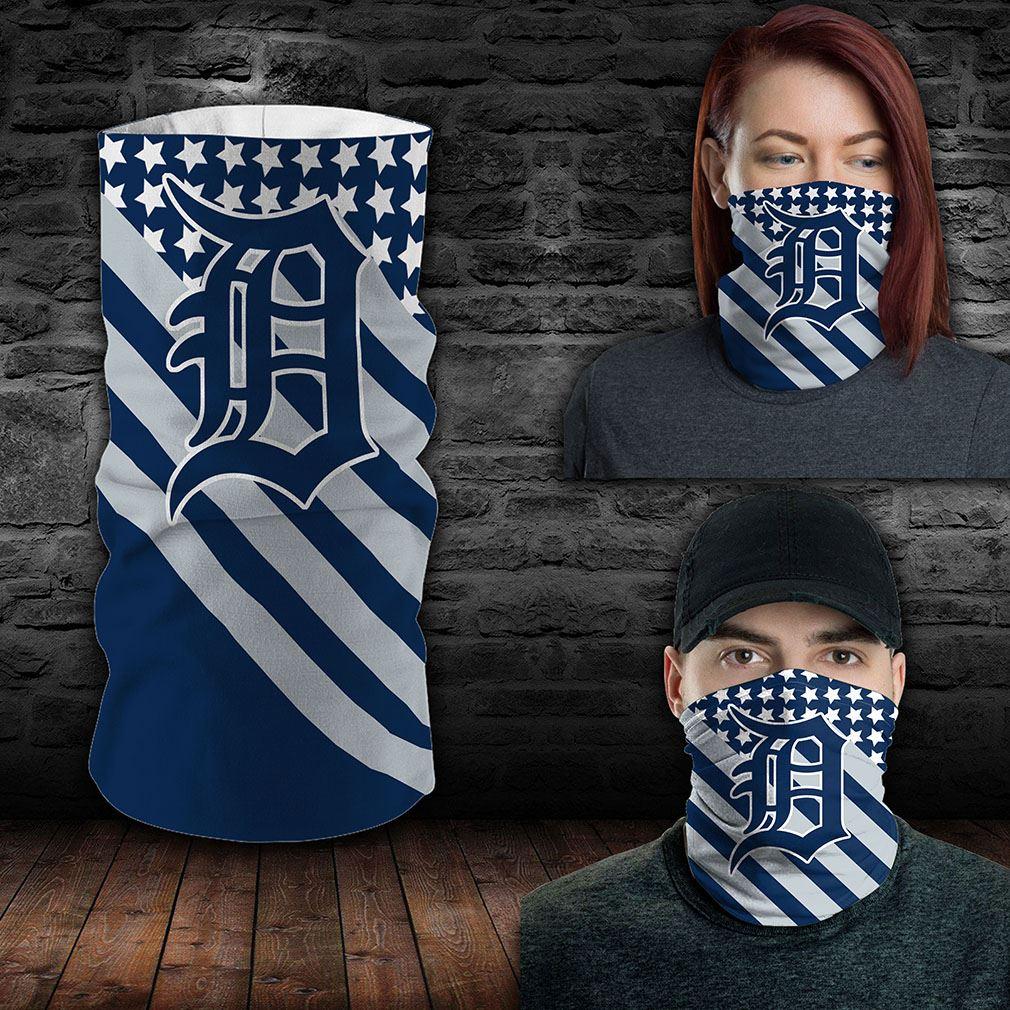 Detroit Tigers Mlb Sport Neck Gaiter Flag America Bandana