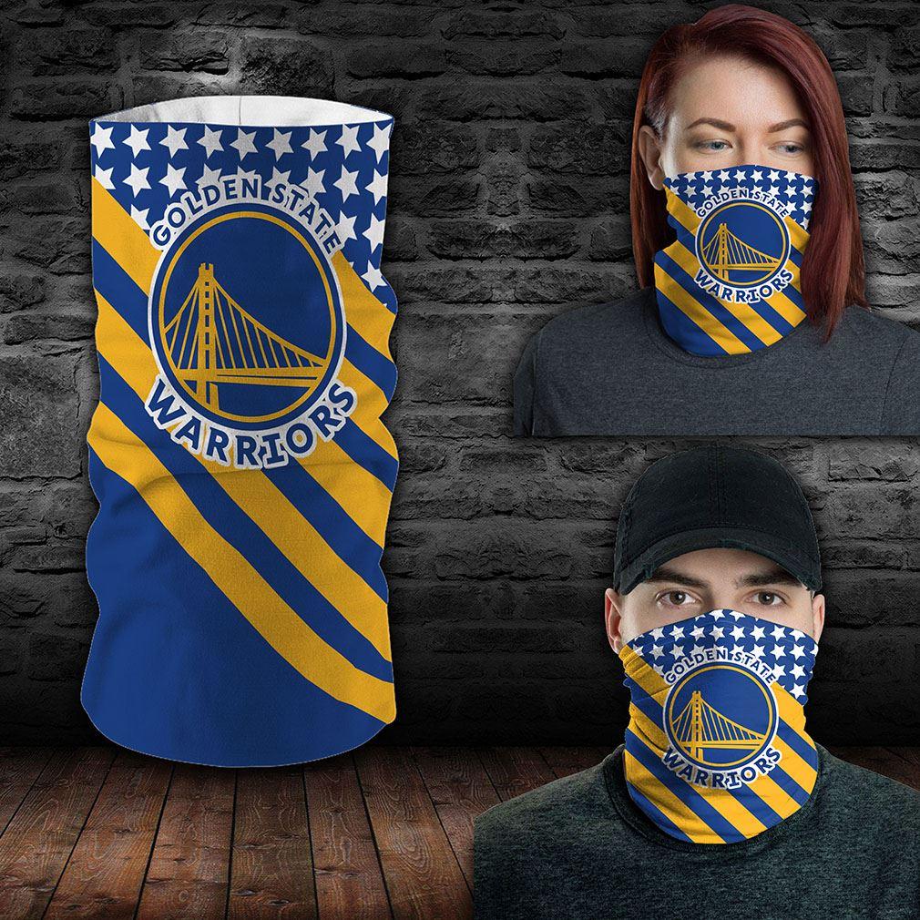 Golden State Warriors Nba Sport Neck Gaiter Flag America Bandana