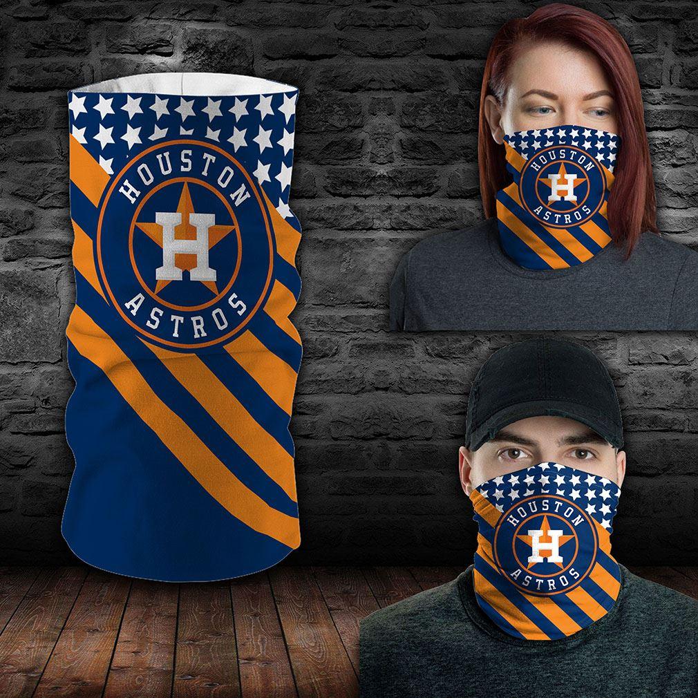 Houston Astros Mlb Sport Neck Gaiter Flag America Bandana