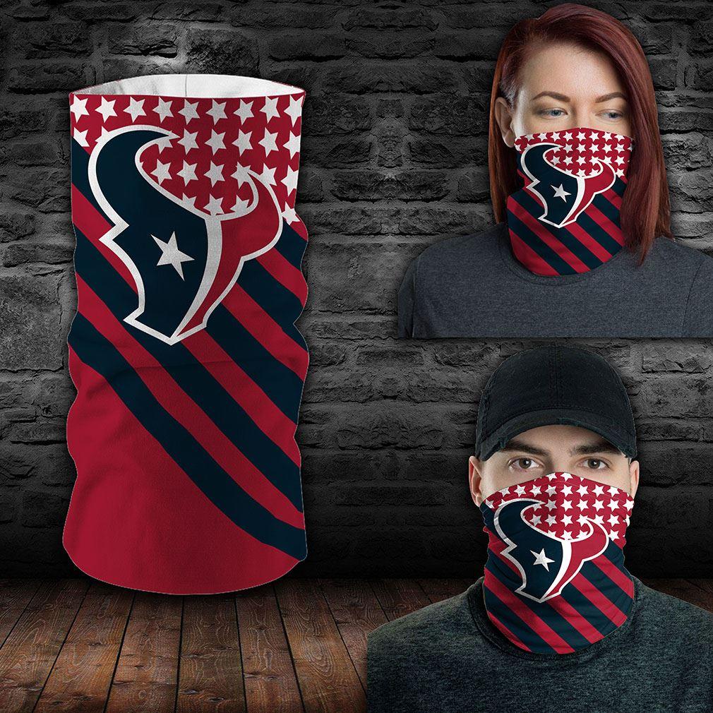 Houston Texans Nfl Sport Neck Gaiter Flag America Bandana