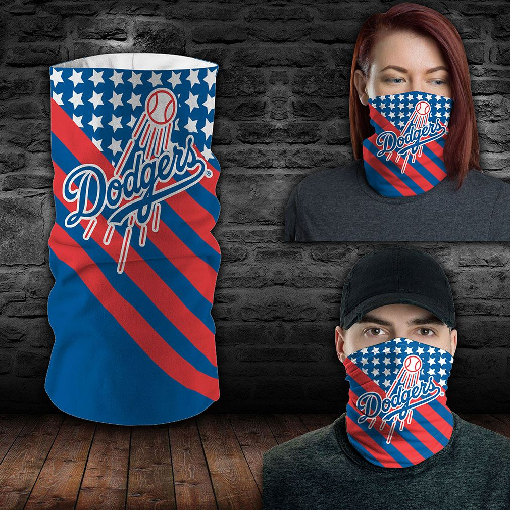 Los Angeles Dodgers Mlb Sport Neck Gaiter Flag America Bandana