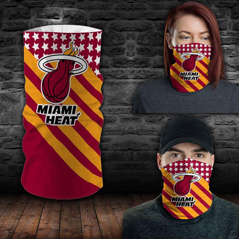 Miami Heat Nba Sport Neck Gaiter Flag America Bandana