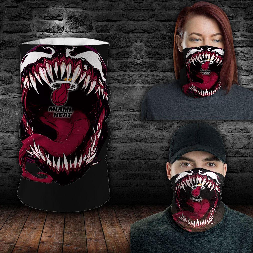 Miami Heat Nba Sport Neck Gaiter Venom Movie Bandana