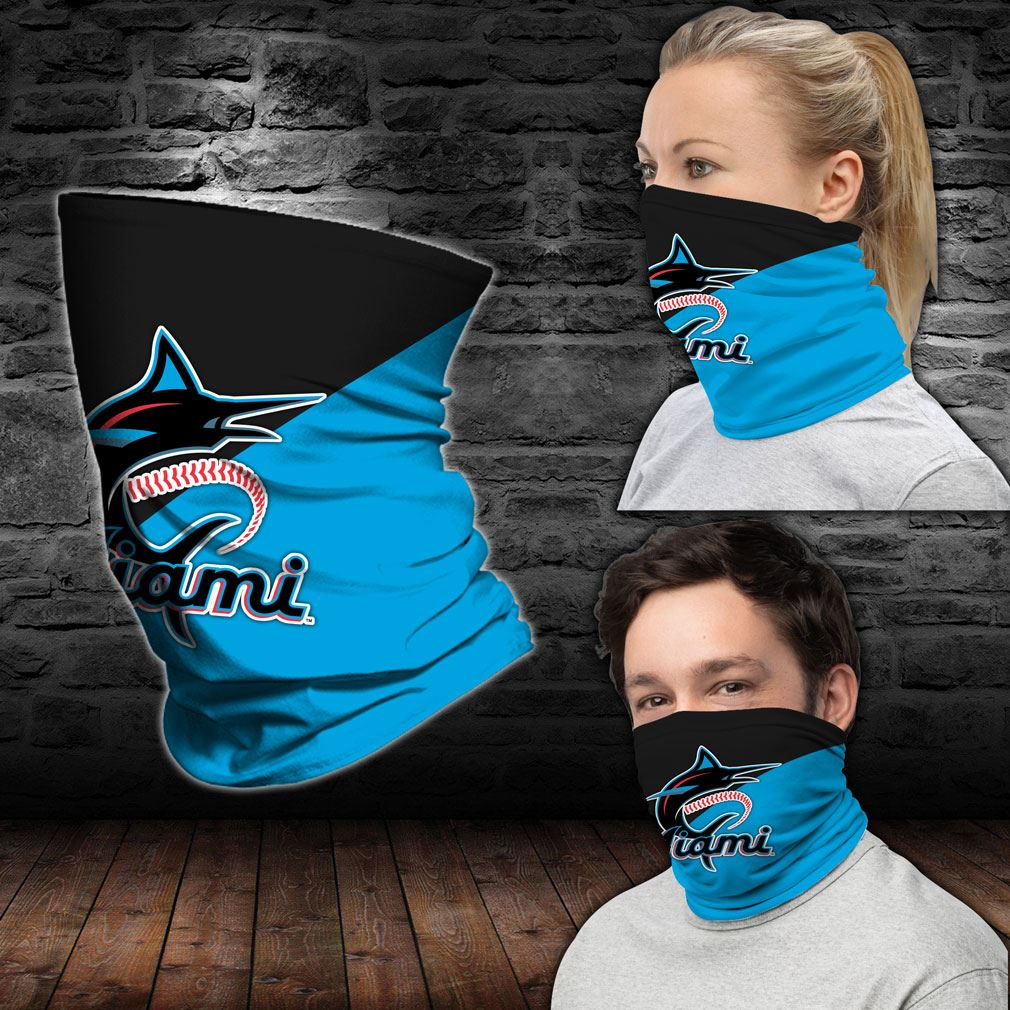 Miami Marlins Mlb Sport Neck Gaiter Bandana