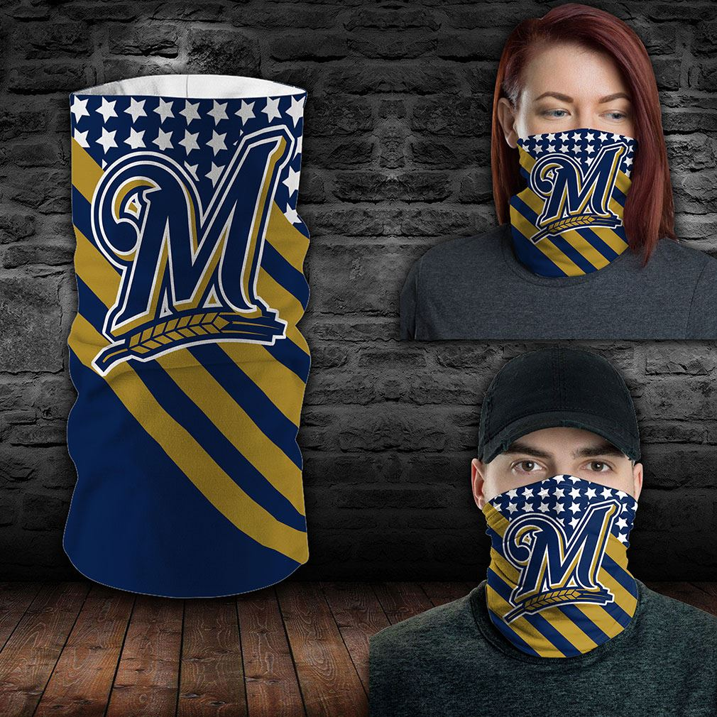 Milwaukee Brewers Mlb Sport Neck Gaiter Flag America Bandana