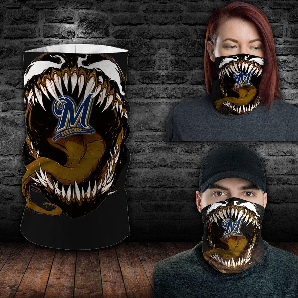 Milwaukee Brewers Mlb Sport Neck Gaiter Venom Movie Bandana