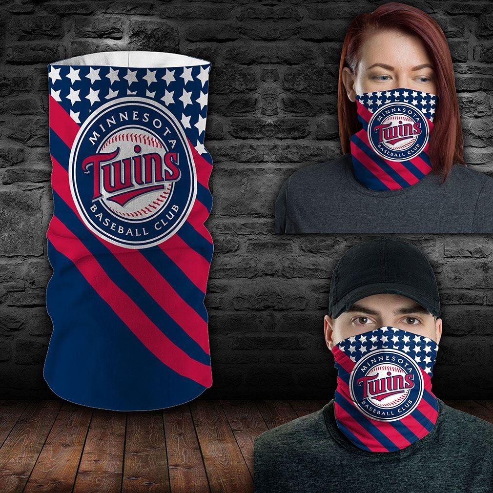Minnesota Twins Mlb Sport Neck Gaiter Flag America Bandana