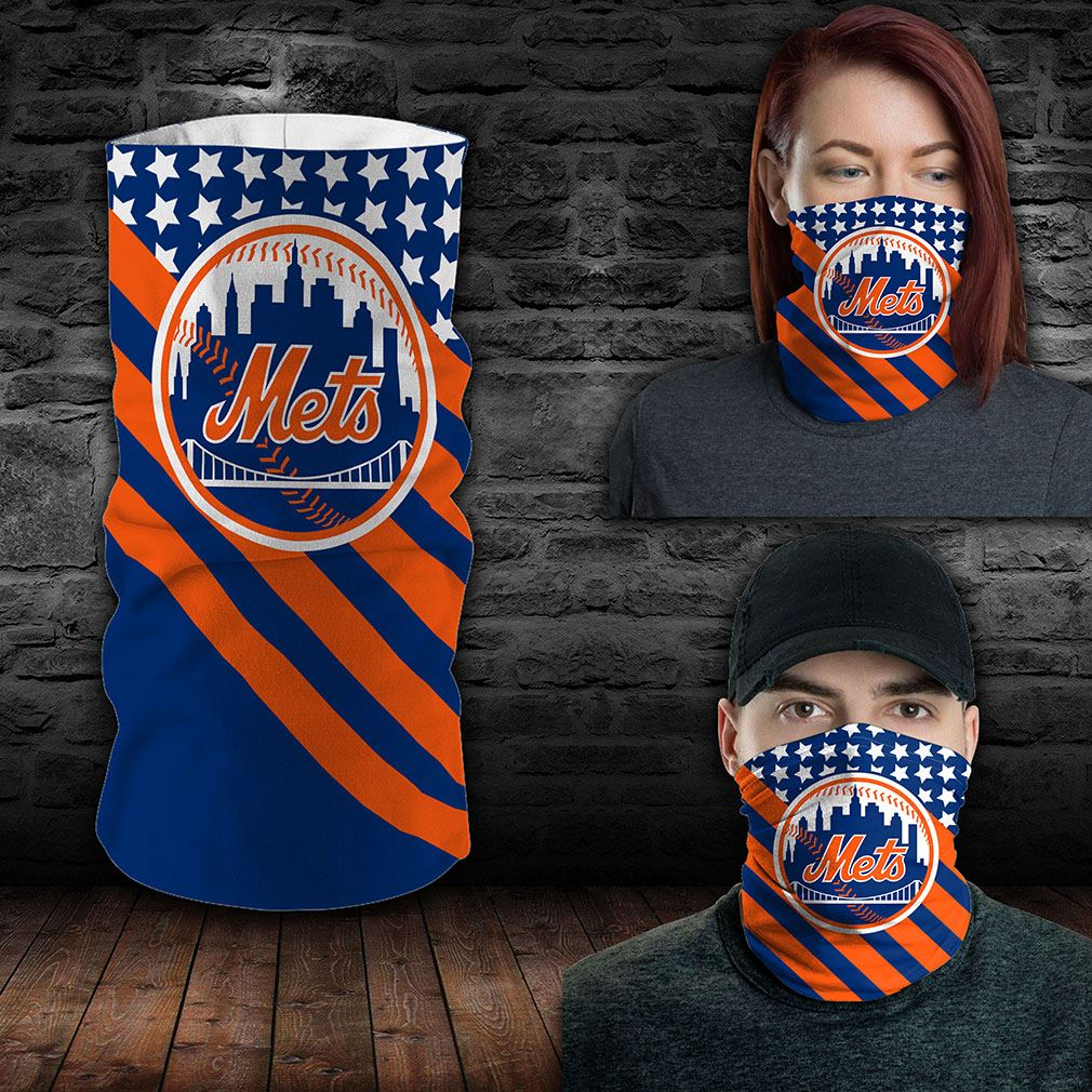 New York Mets Mlb Sport Neck Gaiter Flag America Bandana