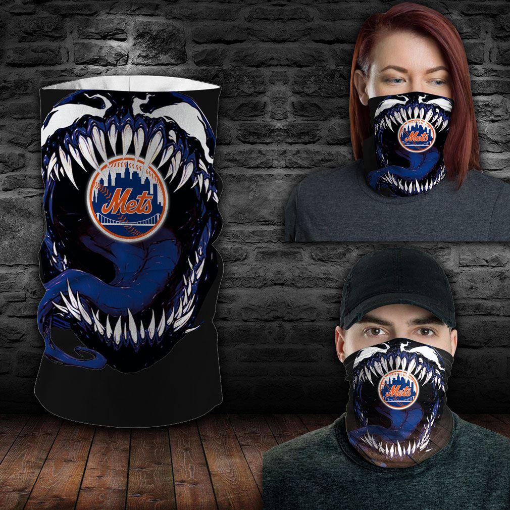 New York Mets Mlb Sport Neck Gaiter Venom Movie Bandana