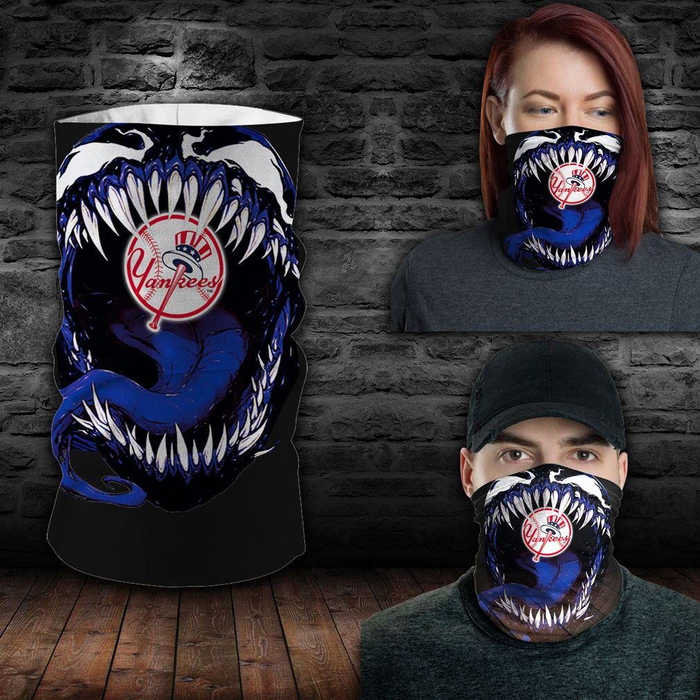 New York Yankees Mlb Sport Neck Gaiter Venom Movie Bandana