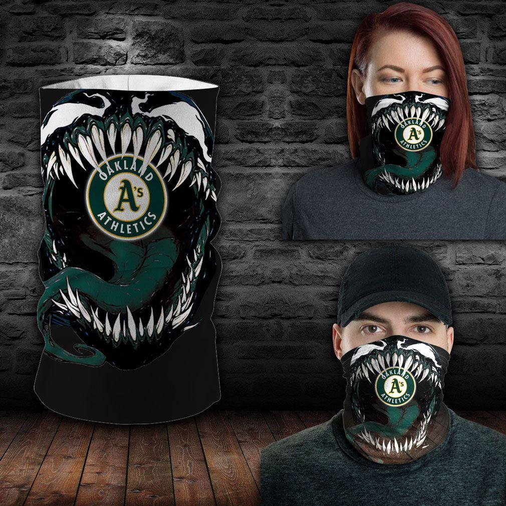 Oakland Athletics Mlb Sport Neck Gaiter Venom Movie Bandana