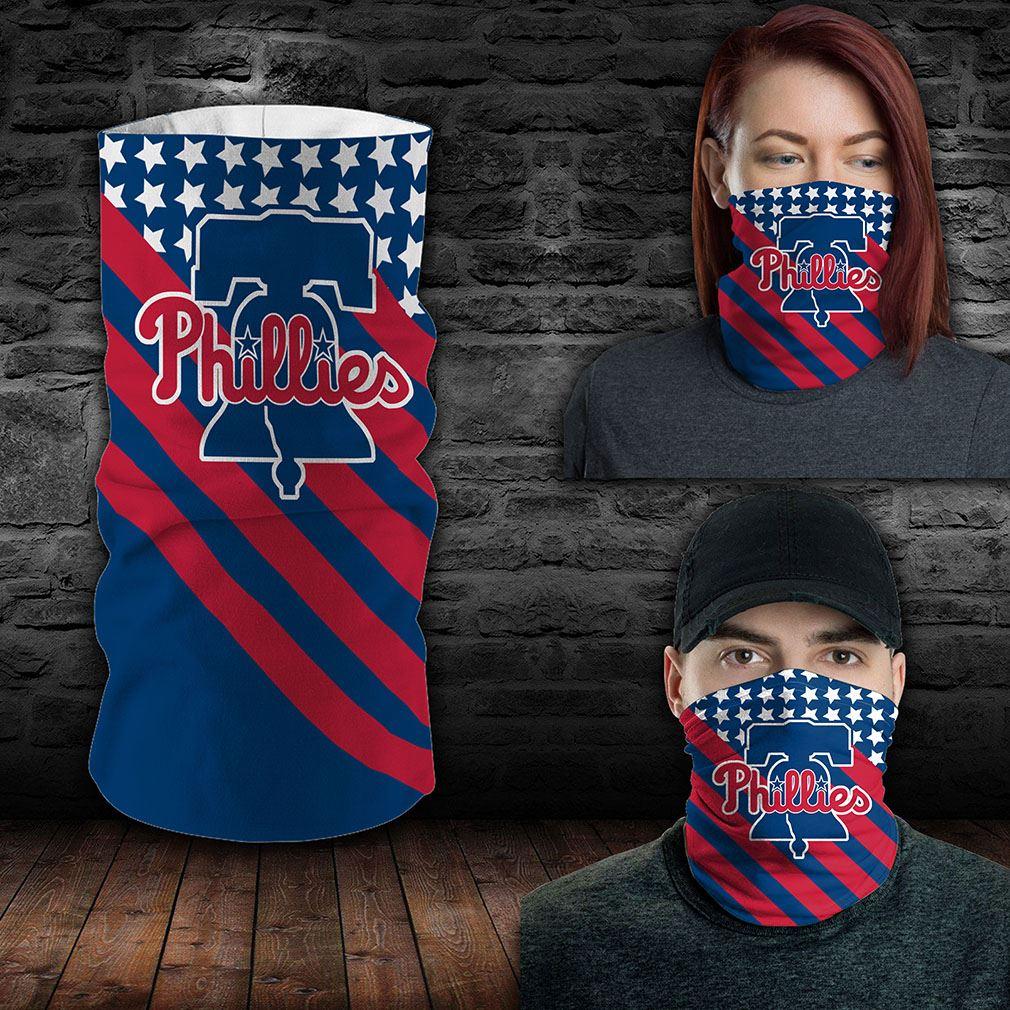 Philadelphia Phillies Mlb Sport Neck Gaiter Flag America Bandana