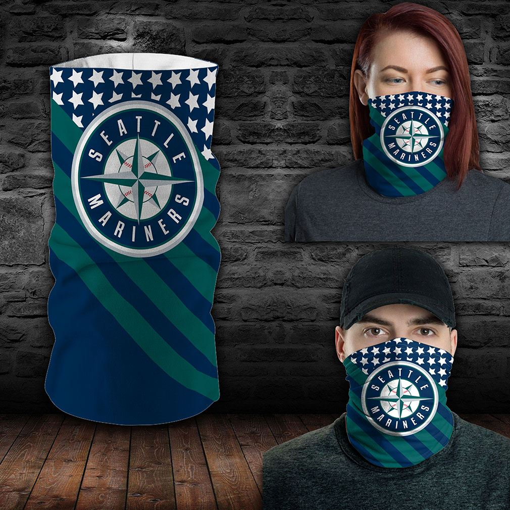 Seattle Mariners Mlb Sport Neck Gaiter Flag America Bandana