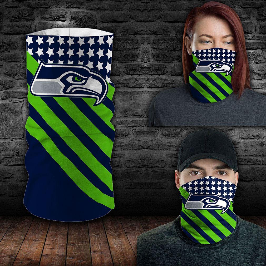 Seattle Seahawks Nfl Sport Neck Gaiter Flag America Bandana