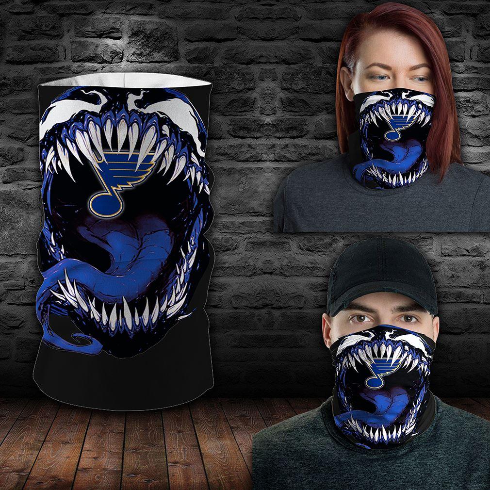 St Louis Blues Nhl Sport Neck Gaiter Venom Movie Bandana