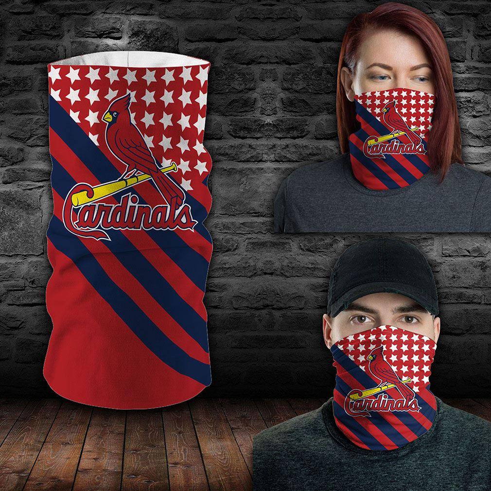 St Louis Cardinals Mlb Sport Neck Gaiter Flag America Bandana