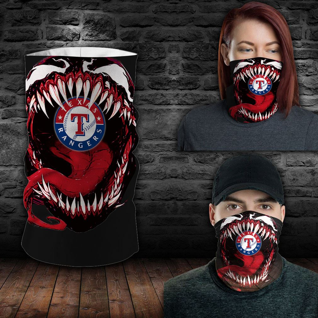 Texas Rangers Mlb Sport Neck Gaiter Venom Movie Bandana