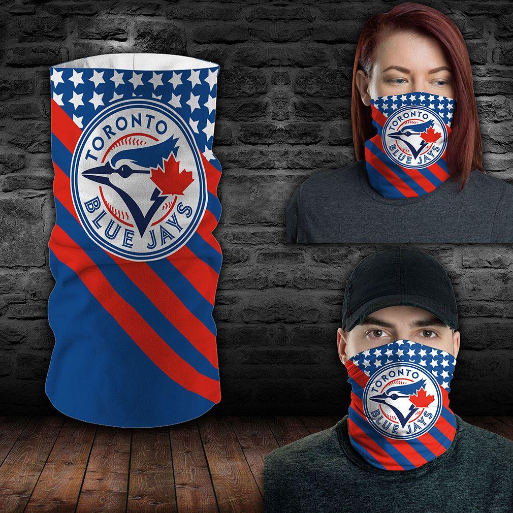 Toronto Blue Jays Mlb Sport Neck Gaiter Flag America Bandana