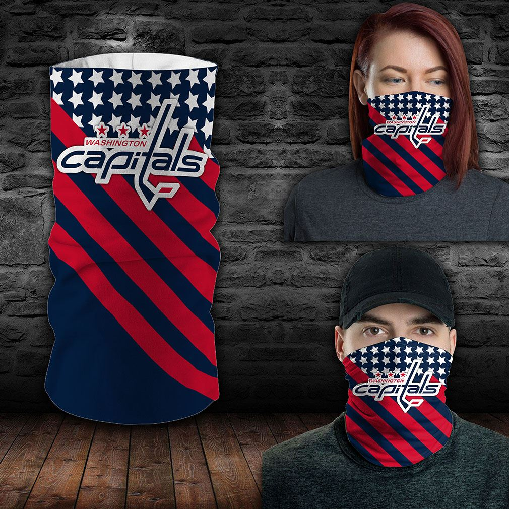 Washington Capitals Nhl Sport Neck Gaiter Flag America Bandana