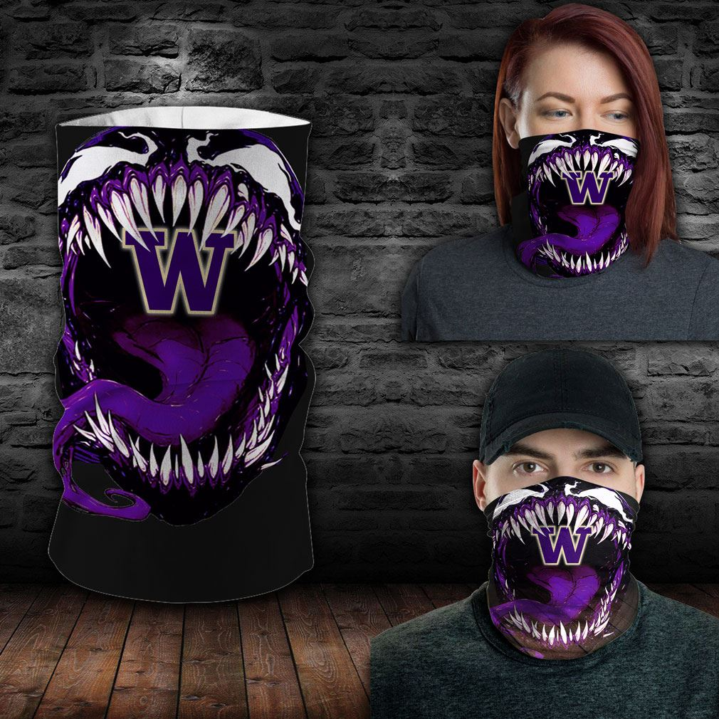 Washington Huskies Ncaa Sport Neck Gaiter Venom Movie Bandana