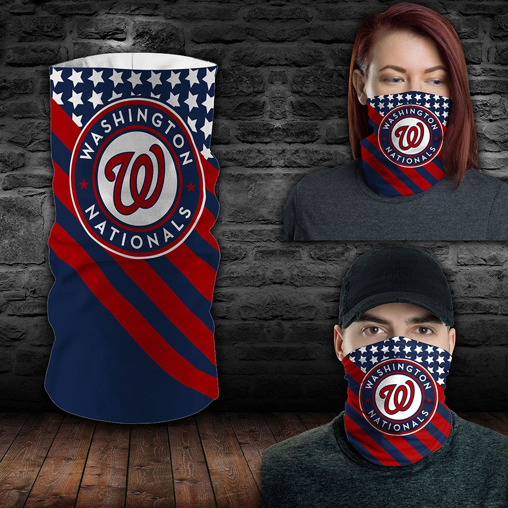 Washington Nationals Mlb Sport Neck Gaiter Flag America Bandana
