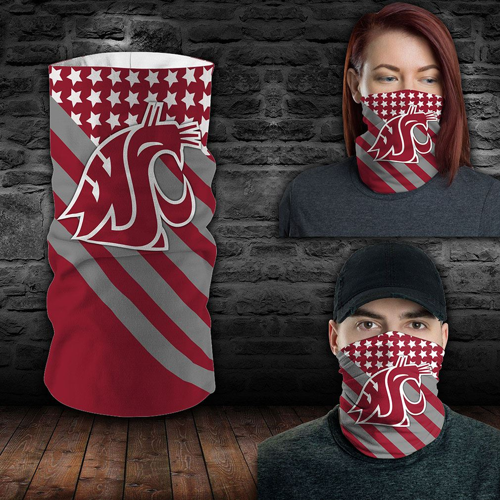 Washington State Cougars Ncaa Sport Neck Gaiter Flag America Bandana