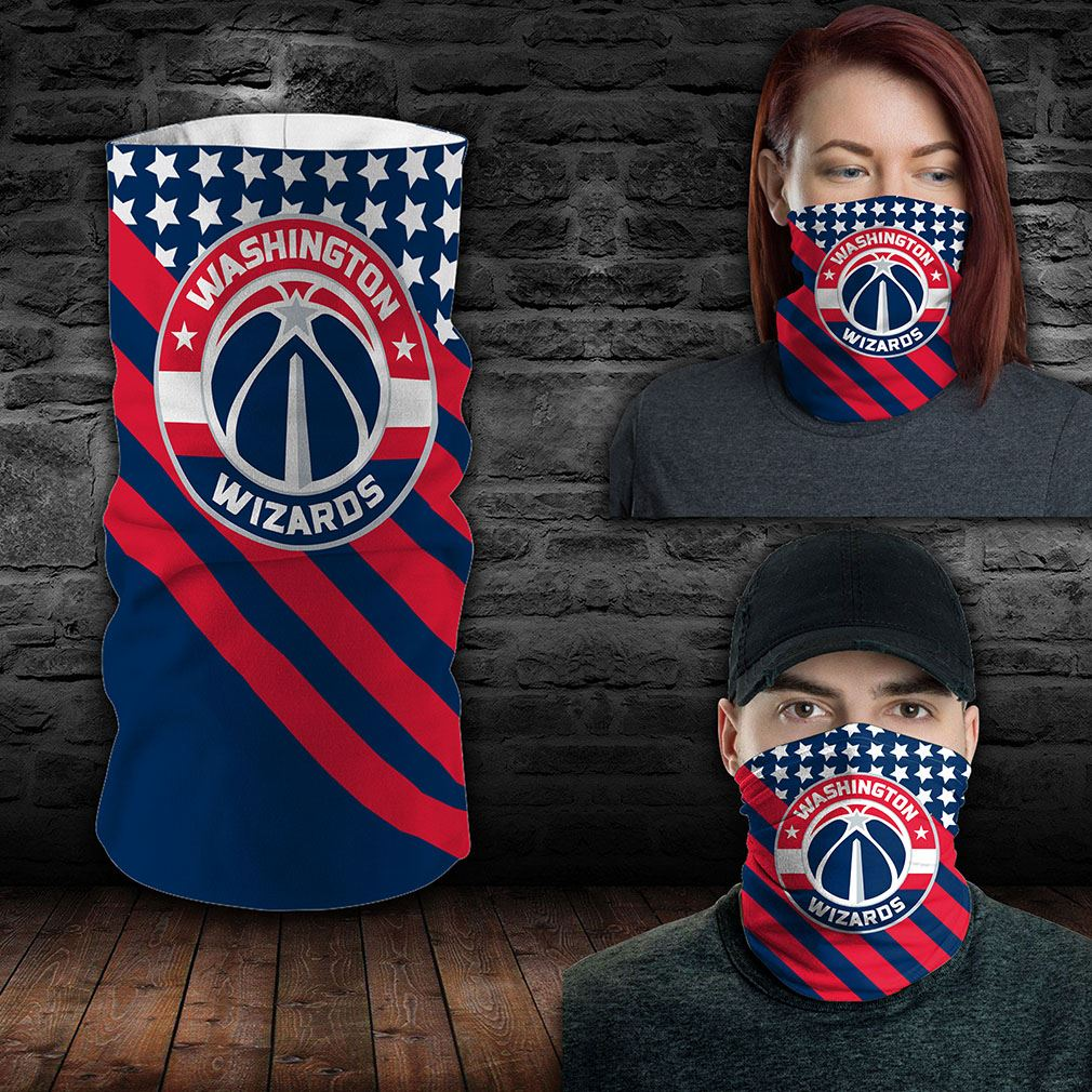 Washington Wizards Nba Sport Neck Gaiter Flag America Bandana