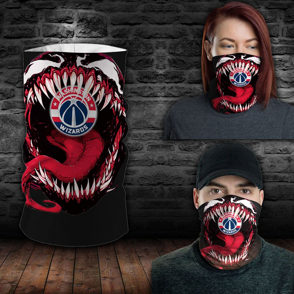Washington Wizards Nba Sport Neck Gaiter Venom Movie Bandana