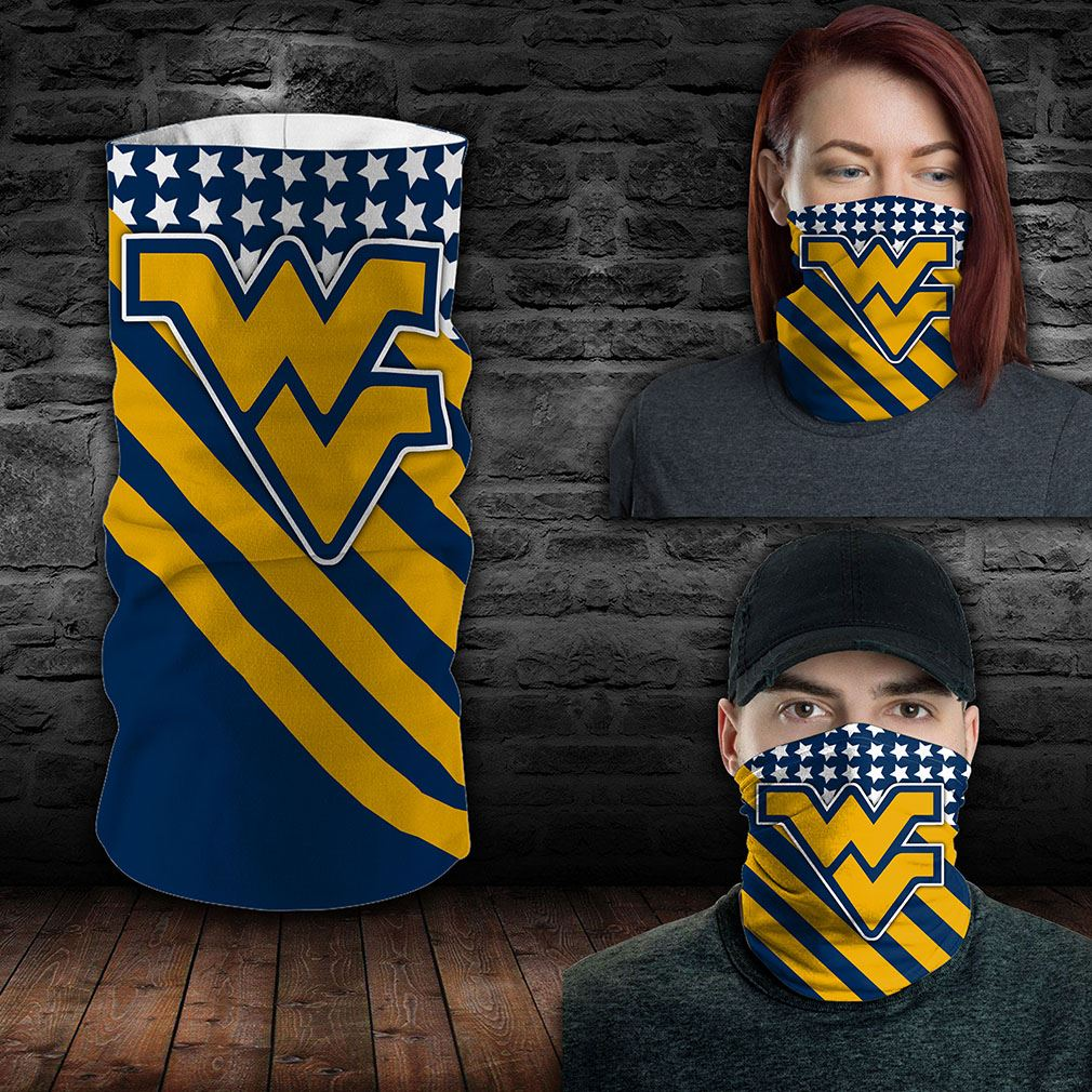 West Virginia Mountaineers Ncaa Sport Neck Gaiter Flag America Bandana