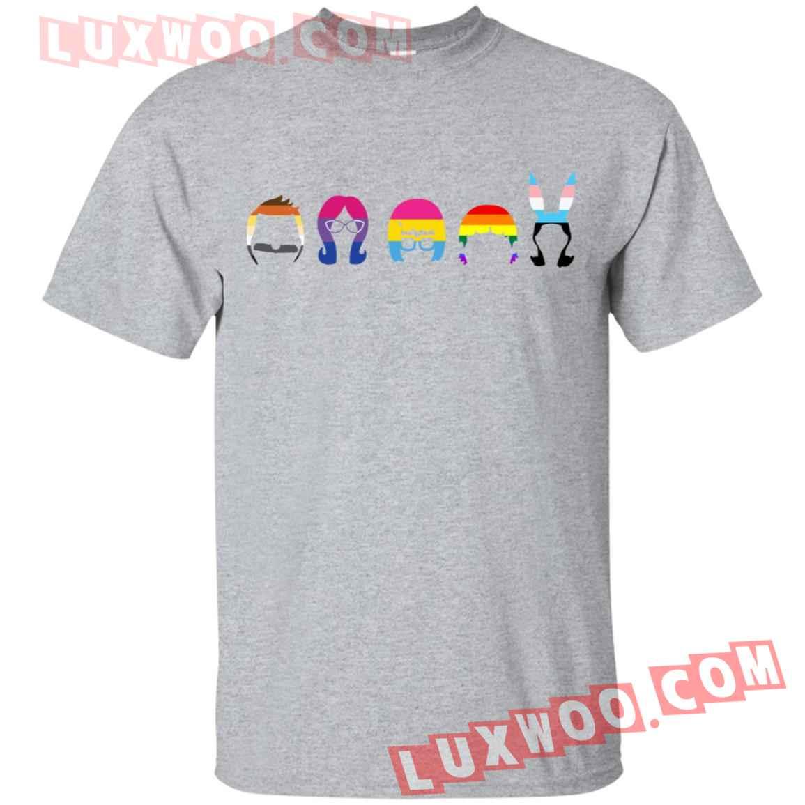 Bobs Burgers Family Lgbt Rainbow